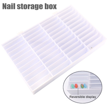 Fake Nail Tips Storage Box 44 Compartments Nail Art Decoration Container False Nail Display Case ake Nail Decoration Showing Box