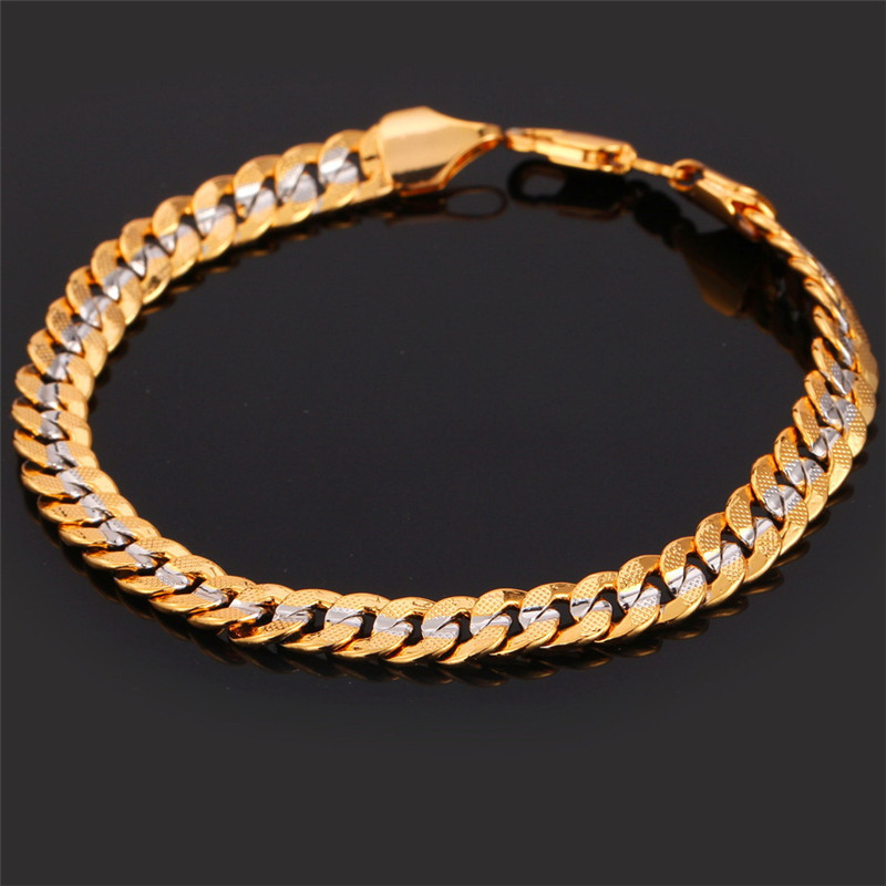 U7 Brand Necklace And Bracelet Set Two Tone Gold Color Hip Hop Cuban Link Chain Jewelry For Men Gift S566 In Sets From Accessories On