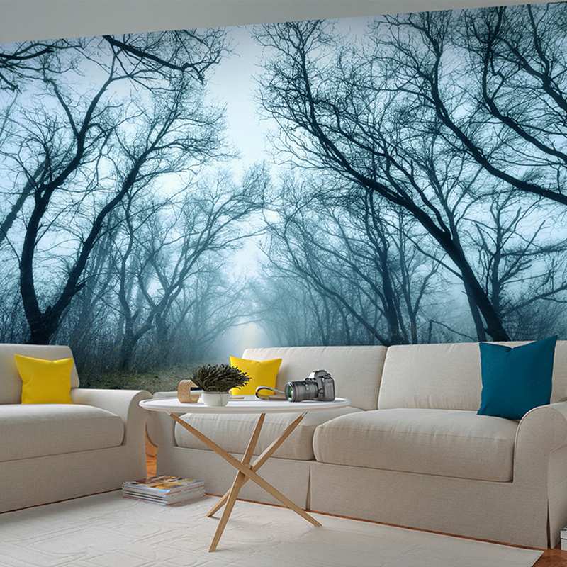 Beibehang Custom Photo Wallpaper 3D Stereo Mysterious Forest Horror Room Escape Haunted House Background Decor Non Woven Mural In Wallpapers From Home
