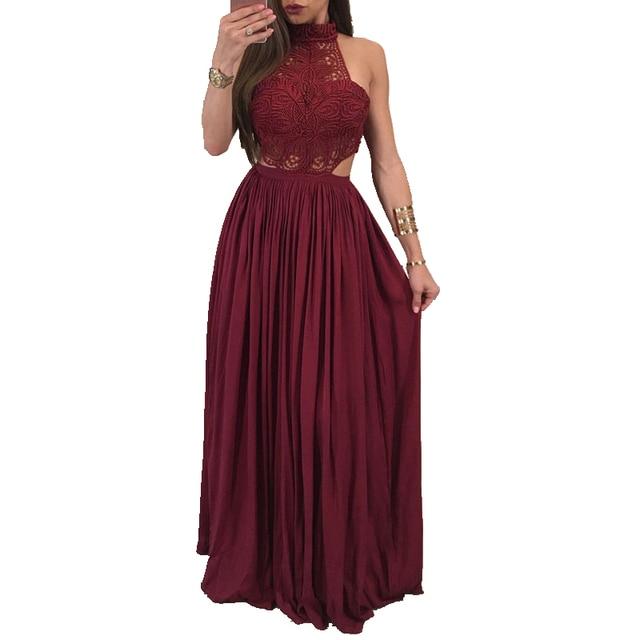 66370fb961 Nuevo vestido largo elegante de encaje para mujer