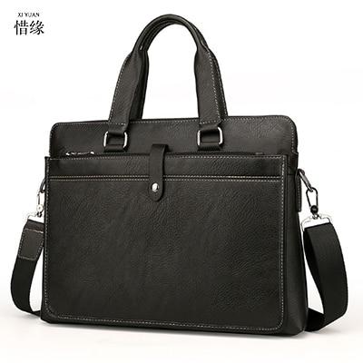 Genuine Cow Leather Mens Messenger Bag Gentleman Business laptop Bag Real Leather Men Crossbody Bag Brand big handbag tote bags