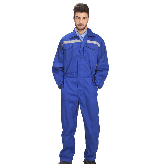 Mechanic Wear Coverall Men Workwear With Reflective Tapes Working Overall For Men