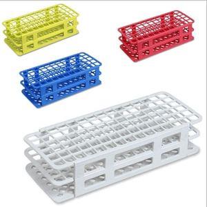 "Image 4 - 16x100 מ""מ מבחן 60 צינורות סט צינור פלסטיק 12 ml עם Rack Caps 4 צבעים שנשלחו באופן אקראי, קצת שונה עם תמונה יחידים"