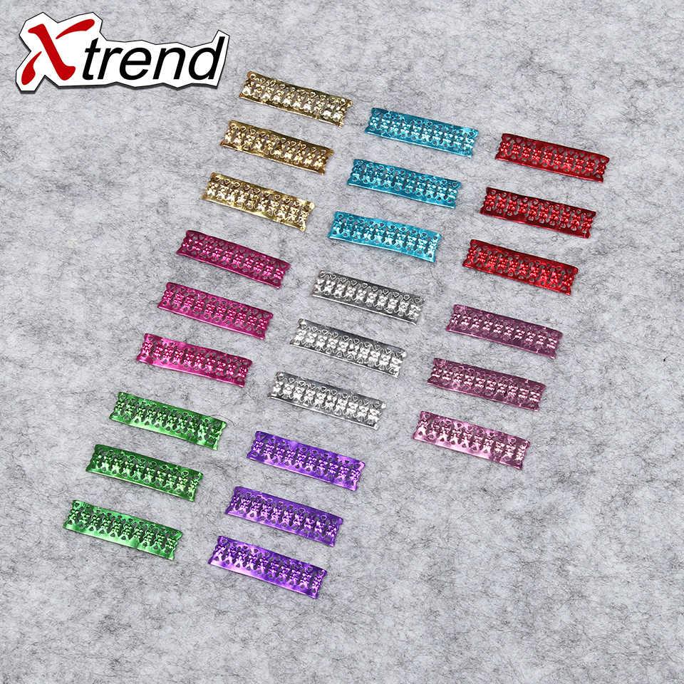 Xtrend 200 шт/партия красивые яркие цвета бусины для дредов регулируемые алюминиевые металлические кольца для волос для плетения кольца для дредов 9 цветов