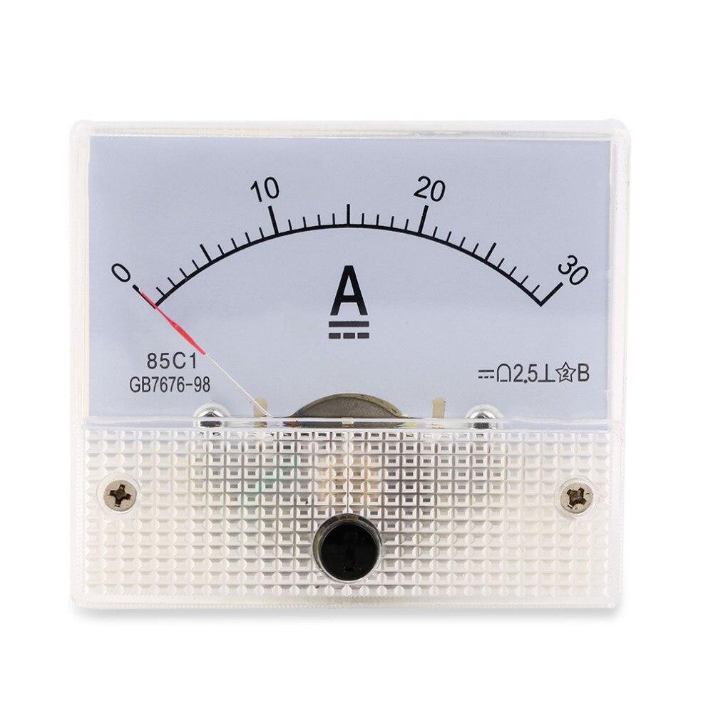 Pesquisa Hot DC Amperímetro Analógico Painel AMP Current Meter 0-30A 30A DC não Precisa Shunt Novo