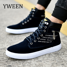 YWEEN Men's Casual Shoes Lace-up Help Style Fashion Men Shoes Sudent Large size Shoes EUR39-46