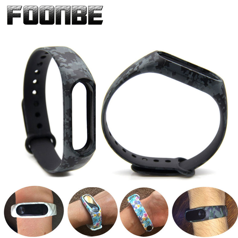 For Mi Band 2 Blue and white Replacement Strap For Xiaomi 2 Smart Wristband Silicone Strap