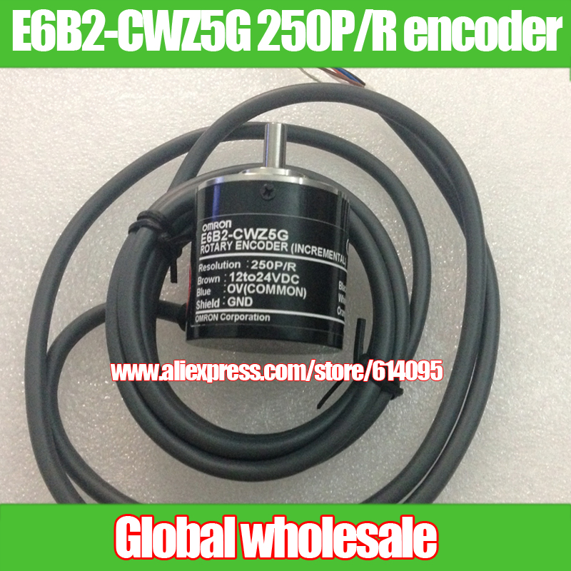 1pcs E6B2 CWZ5G 250P R encoder for Omron 250 line incremental encoder rotary optical encoder