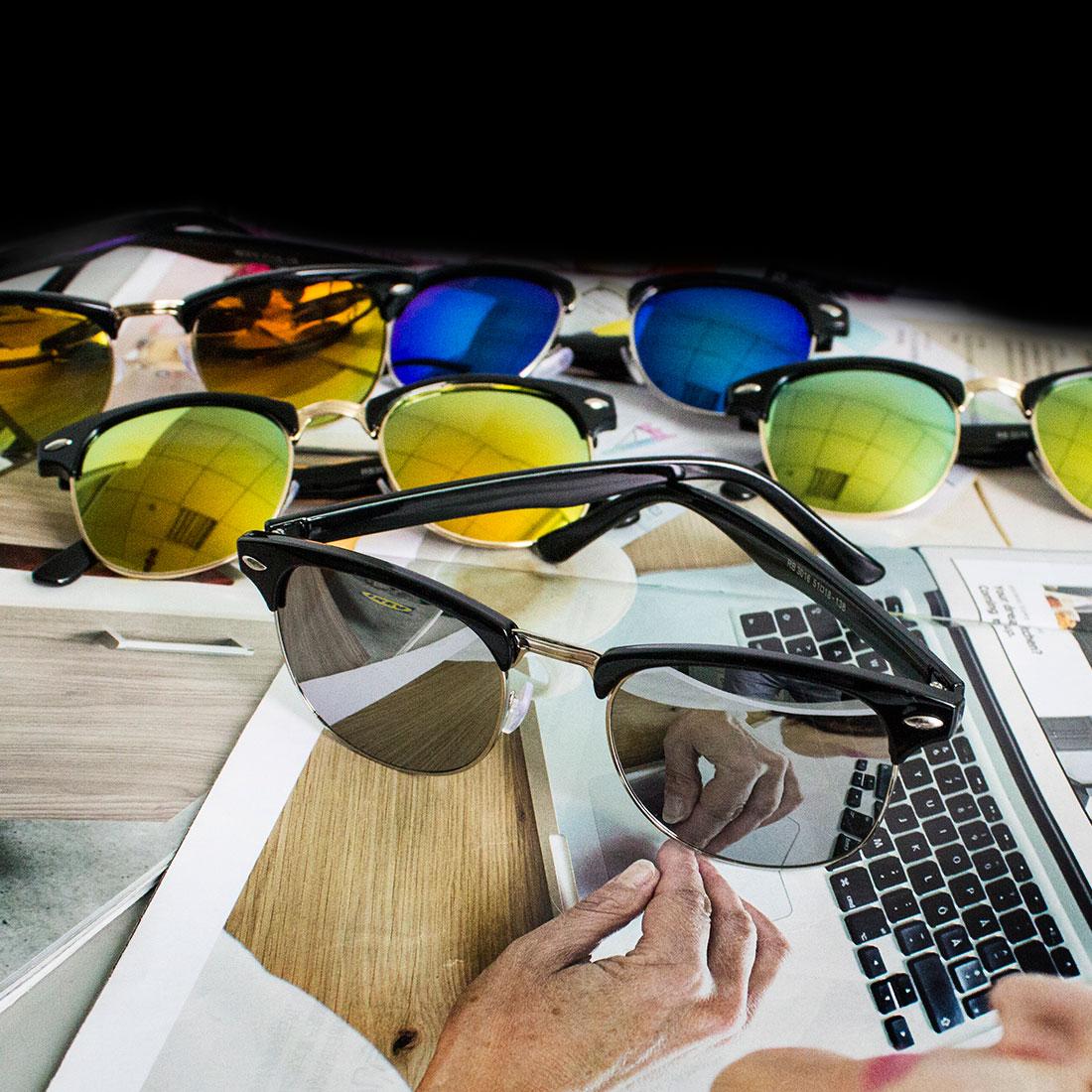 Impression sur toile Reservoir Dogs Noir Convient et lunettes de soleil - Large Split asGgv7RIMi