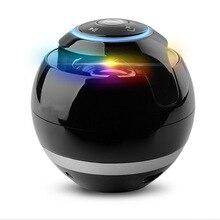 Bluetooth Speaker Mini Spherical Portable Wireless Speaker Soundbar Bass Boombox Sound box with Mic TF Card FM Radio LED Light