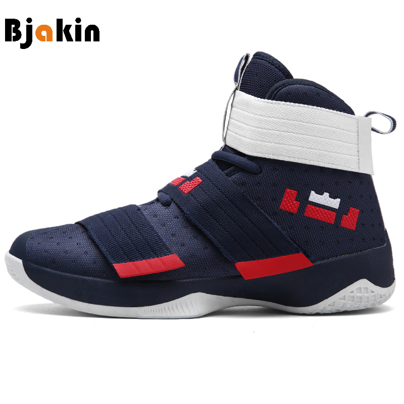 Bjakin 2019 Men Basketball Boots High Top Men Basketball Shoes Rubber Sole Man Ball Ankle Boots High Quality Basket Sneakers(China)
