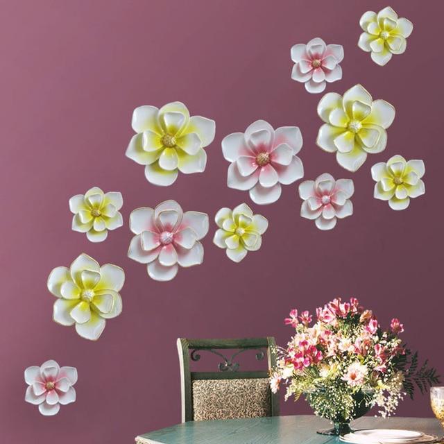 Европейский домашнего интерьера стене висит ремесел 3D Стерео цветы творческая гостиная фон смолы гобелены росписи