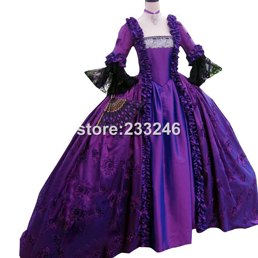 2015 gorgeous retro purple 18th century renaissance victorian gowns marie antoinette dresses. Black Bedroom Furniture Sets. Home Design Ideas