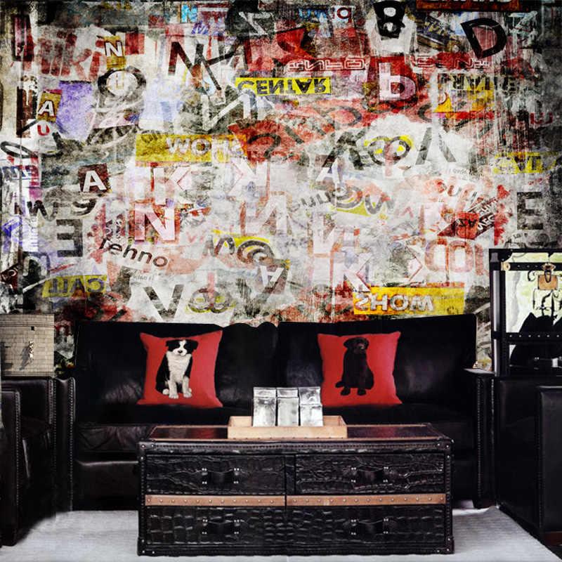 custom photo wallpaper graffiti wallpaper mural personalized wallpaper retro living room wallpaper.jpg q50