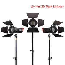 CRI 97 + LS Mini20 vôo kit ddc filme fresnel cob levou a fotografia de luz diodo emissor de luz diodo emissor de luz com luz stand