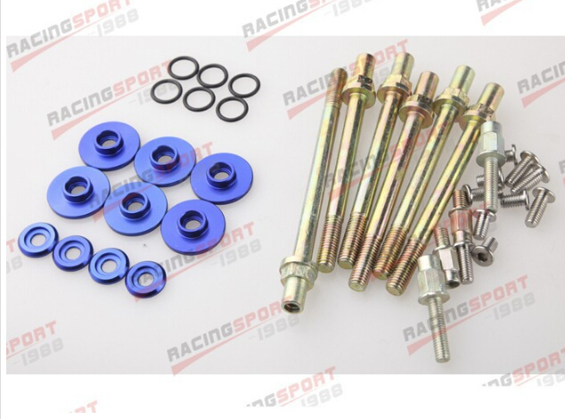 BLUE LOW PROFILE VALVE COVER WASHER KIT FOR HONDA ACURA K-SERIES K20 K24 VALC-03-BLUE kingsun rear adjustable ball joint camber control suspension arm kit for 1990 1997 honda accord acura cl tl1996 1999 blue
