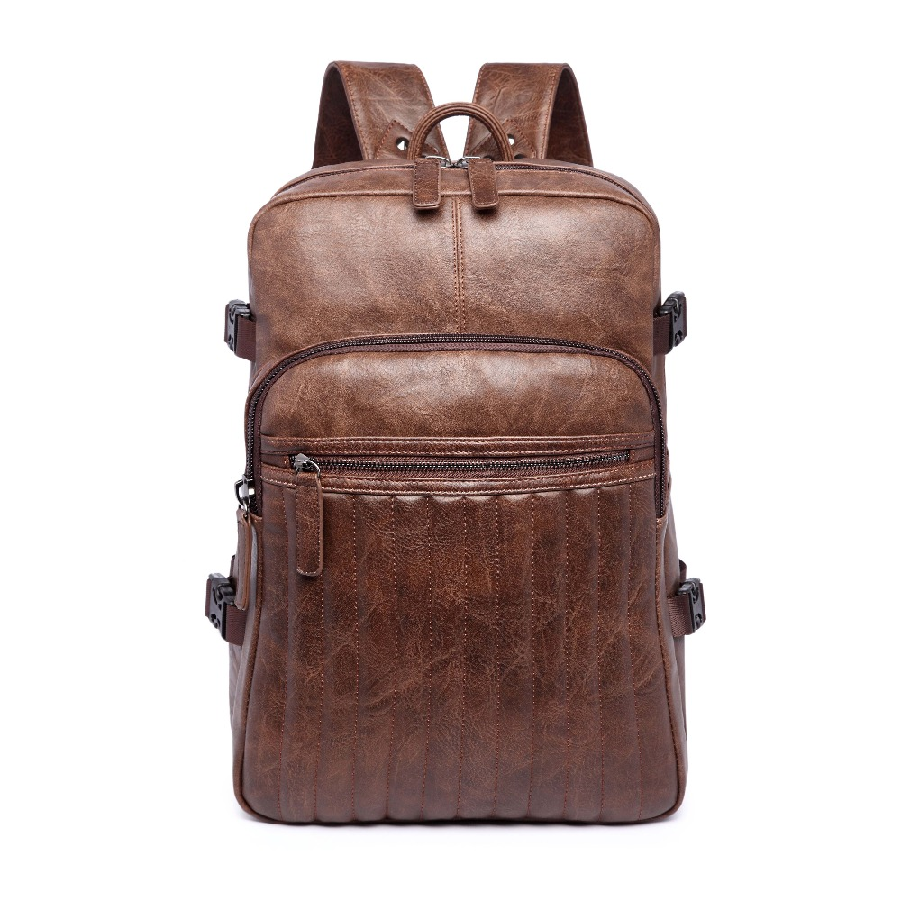 (B1541)2016 Vintage quality PU leather men women backpack, two kinds of color , suitable for mochila or shopping bag