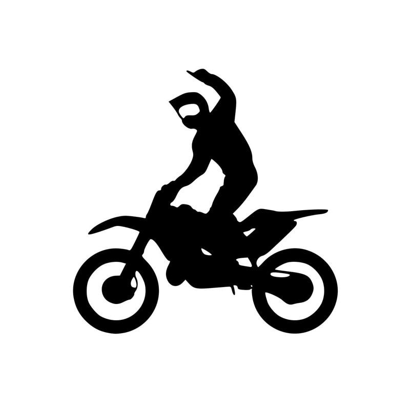 13.8*13.8 см наклейки Мотокросс гоночный трек моды личности мультфильм Виниловые наклейки черный/серебристый С7-0283