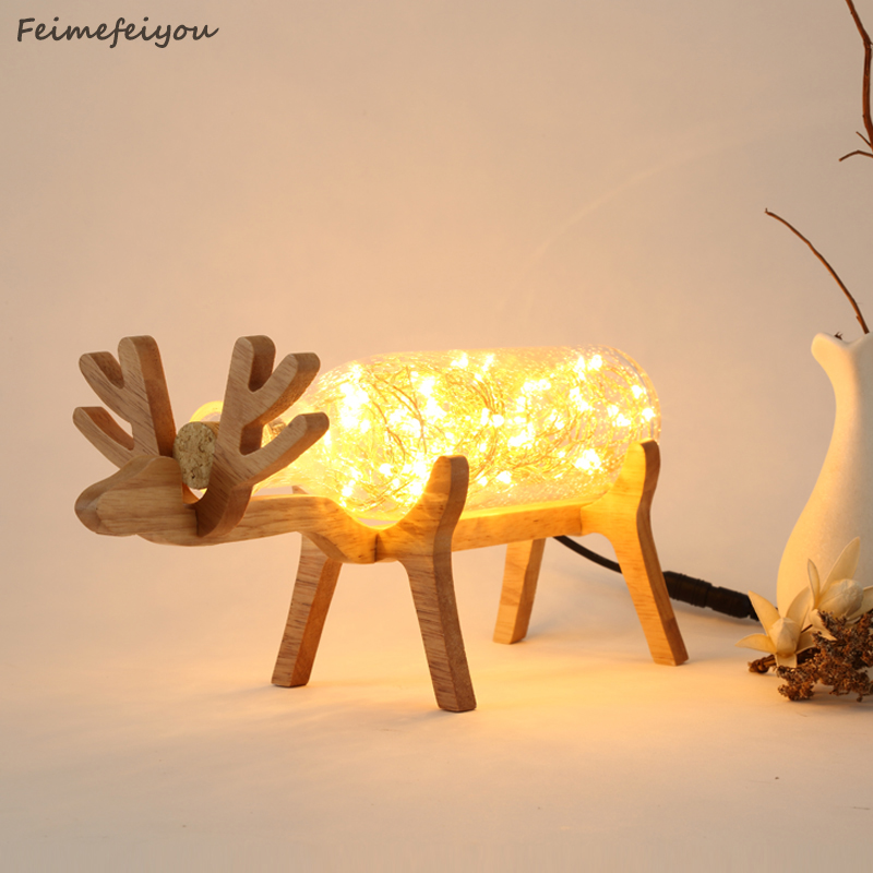 Feimefeiyou Wooden sheep style Creative Gift Wedding Christmas LED String Lights for Xmas Garland Party Wedding AC110V-240V 30m 300 led 110v ball string christmas lights new year holiday party wedding luminaria decoration garland lamps indoor lighting