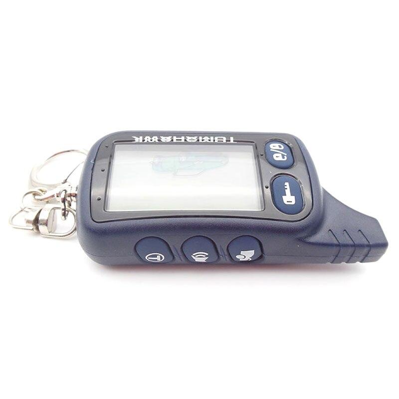 imágenes para Envío gratis TOMAHAWK TZ9010 LCD del mando a distancia 2 way sistema de alarma del coche para TOMAHAWK TZ9010 / S-700 llavero