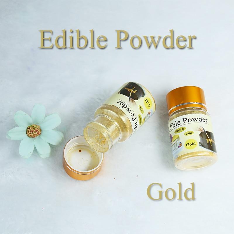 10 Gram Edible Food Powder Gold Color For Chocolate,Cake, Bread, Bake,Roast, Arts Food Pastry Decoration,Safe,Fondant Pigment