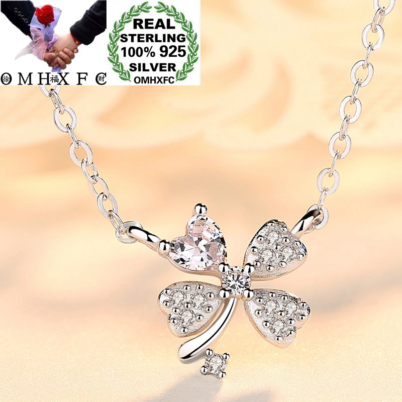 OMHXFC Wholesale European Fashion Woman Girl Party Birthday Gift Flower Zircon 100% S925 Sterling Silver Pendant Necklace CH04OMHXFC Wholesale European Fashion Woman Girl Party Birthday Gift Flower Zircon 100% S925 Sterling Silver Pendant Necklace CH04
