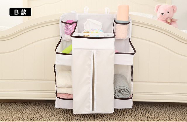 Baby Bedding Set Cribs Hang Bags Storage Bag Organizer Hanging Up Baby Diaper Nappy Pockets Babies Receive