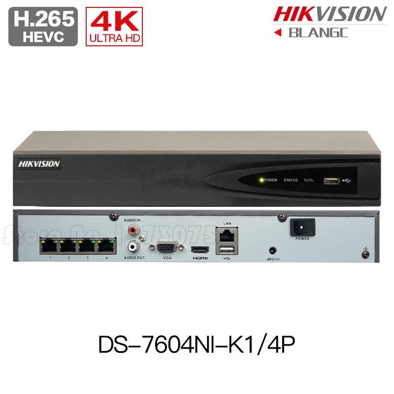 Hikvision DS 7604NI K1 4P DS 7608NI K2 8P DS 7616NI K2 16P 8MP H 265