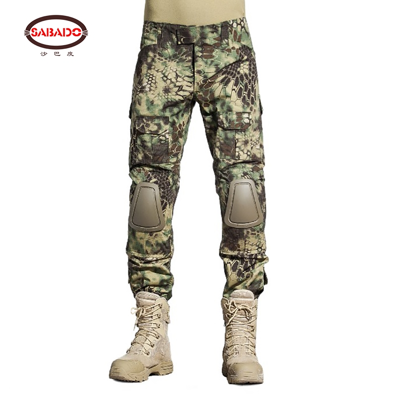 SABADO pantalon militaire homme With Knee Pads Camouflage Military Tactical Pants pantalon cargo homme