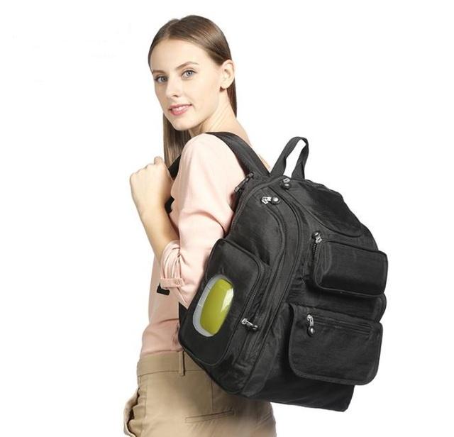 Bebe cochecito impermeable bolsa de mamá bolsa de pañales del bebé pañales momia del pañal del organizador del bolso de hombro de maternidad cambiar pad bolsa mochilas