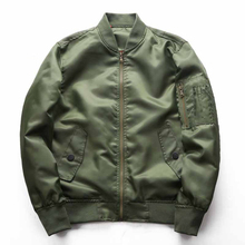 Casual Thin Bomber Jacket Men Autumn Military Coat Male Solid Color Baseball Jackets Windbreaker Green Black Blue J0256 цена 2017
