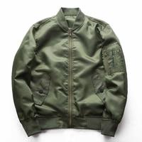 Casual Thin Bomber Jacket Men Autumn Military Coat Male Solid Color Baseball Jackets Windbreaker Green Black Blue J0256