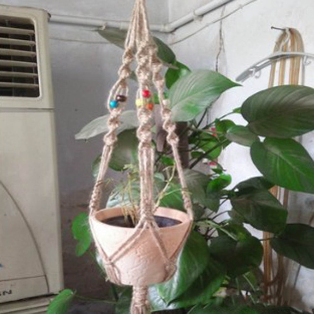 Hanging Macrame Plant Hanger Planter Holder Basket For Flower Pots Indoor Outdoor Garden Decoration