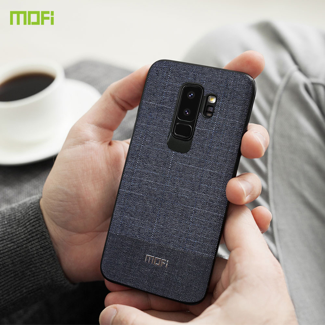 MOFi Samsung S9 S9 Plus Luxury Fabric Business Style Back Case Cover
