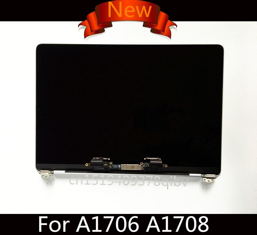 Véritable Nouveau LCD Full Display Assemblée D'écran pour Macbook Pro Retina 13 A1706 A1708 Complète Assemblée Gris Argent 2016 2017 Année