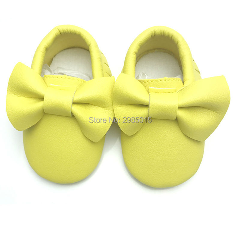 Handmade Soft Bottom First Walkers Baby Moccasins Newborn Babies Shoes Soft Bottom PU leather Prewalkers Boots