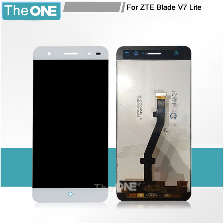 Подробнее о 100% New Full LCD DIsplay + Touch Screen Digitizer Assembly Replacement For ZTE Blade V7 Lite LTE Free shipping white black for zte blade a610 td lte lcd display touch screen digitizer assembly replacement free shipping