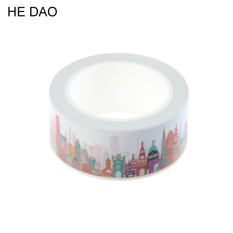 1 Pc 2cm X 10m Gorgeous Town Washi Tape Diy Decoration Scrapbooking Planner Masking Tape Adhesive Tape Kawaii Stationery