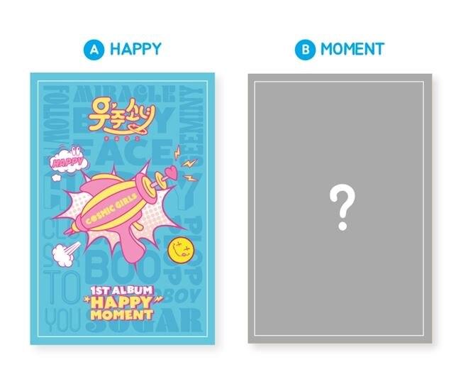WJSN (COSMIC GIRLS) 1ST ALBUM - HAPPY MOMENT  - Random Cover - Release Date 2017.06.08 KPOP bigbang seungri 2nd mini album let s talk about love random cover booklet release date 2013 08 21 kpop