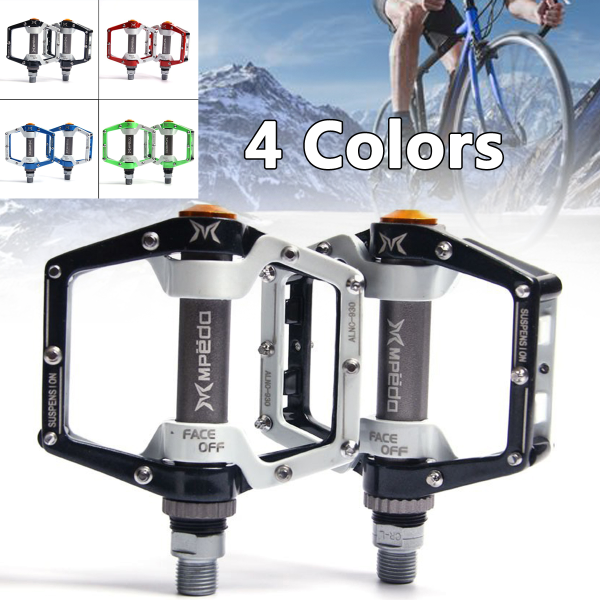 Aluminum Bicycle Pedal Flat Platform Cycling MTB Mountain Bike Pedals