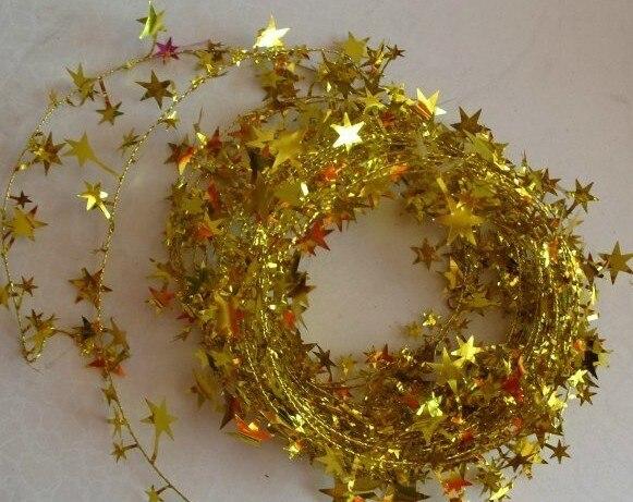 cm de colores de alambre de hierro estrellas con cuentas para el rbol de navidad