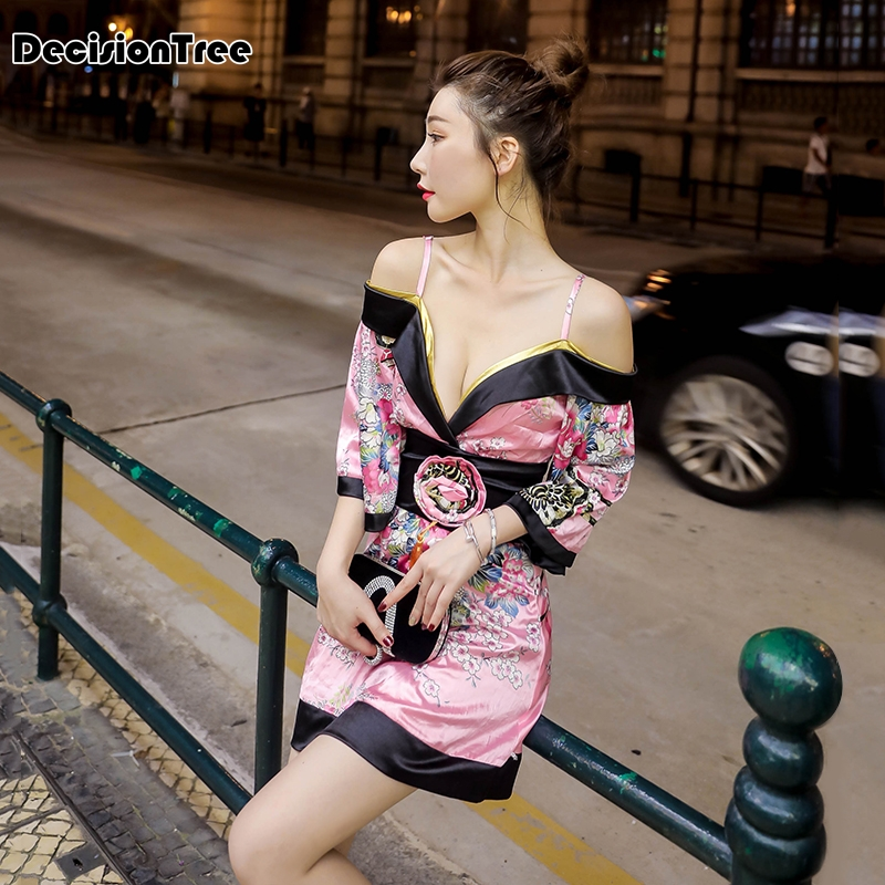 2019 été japonais style kimono femmes yukata robe traditionnelle japon vêtements japonais kimono robe asiatique club robe kimono