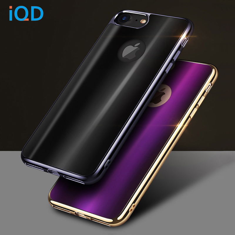 IQD For iPhone 7 7 Plus Case New Plating Frame Soft TPU Cases for iPhone 7