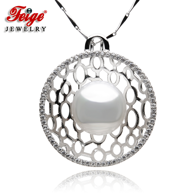 New Design Big Pearl Pendant Necklaces for Women Anniversary Jewelry 12-13MM Freshwater Pearls 925 Sterling Silver Chain FEIGENew Design Big Pearl Pendant Necklaces for Women Anniversary Jewelry 12-13MM Freshwater Pearls 925 Sterling Silver Chain FEIGE