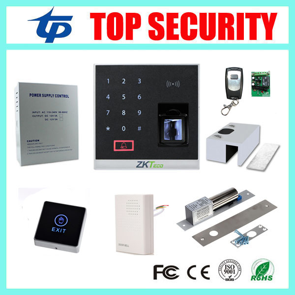 Ethernet biometric fingerprint access control system with electric bolt lock, touch exit button and 12v5a power X8-BT diy lock system metal keypadl k2 electric control lock 3a power supply exit button 10pcs key cards wireless remote control