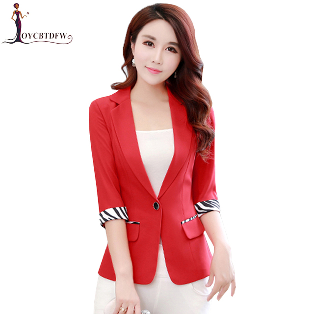 1f57173b3c69 Large size S 3XL Spring Women Red Suit Coat 2018 Autumn New Fashion ...