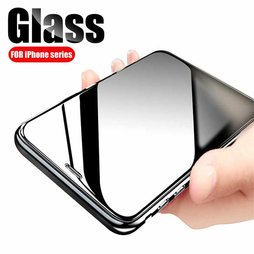 Transparent Glass for iphone XS max XR X r 6 7 6s 8 plus screen glass protector on the for iphone 5 s se 5s 5c 4 4s Glass Film