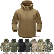 ESDY Men Outdoor Jacket Water-resistant Luker TAD Coat Shark Skin Soft Shell Hoodie Hunting Duty Camping Hiking Clothing