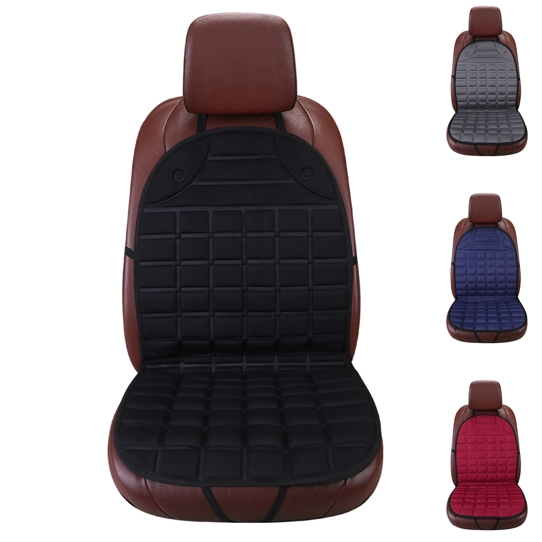 Dewtreetali Winter Single Car Seat Covers Universal Front Car Seat Warm Cushion Protector Pad Black Gray for VW BMW Toyota Audi dewtreetali universal automoblies seat cover four seaons car seat protector full set car accessories car styling for vw bmw audi