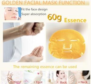 Image 3 - 10Pcs/Lot Skin Care Facial Mask Gold Collagen Black Mask Gold Crystal Collagen Powder Moisturizing Firming Oil Control Face Mask